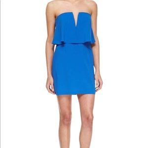 BCBGMAXAZRIA Kate Strapless Overlay Dress